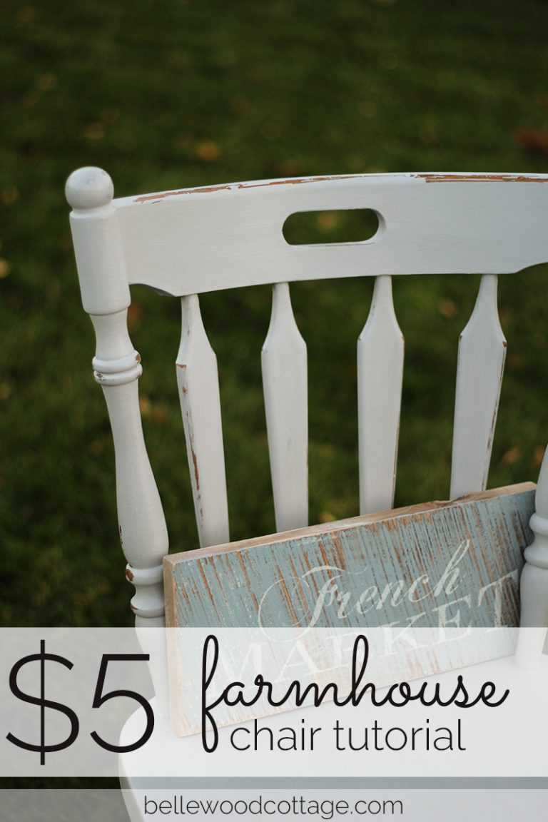 Farmhouse Chair Tutorial
