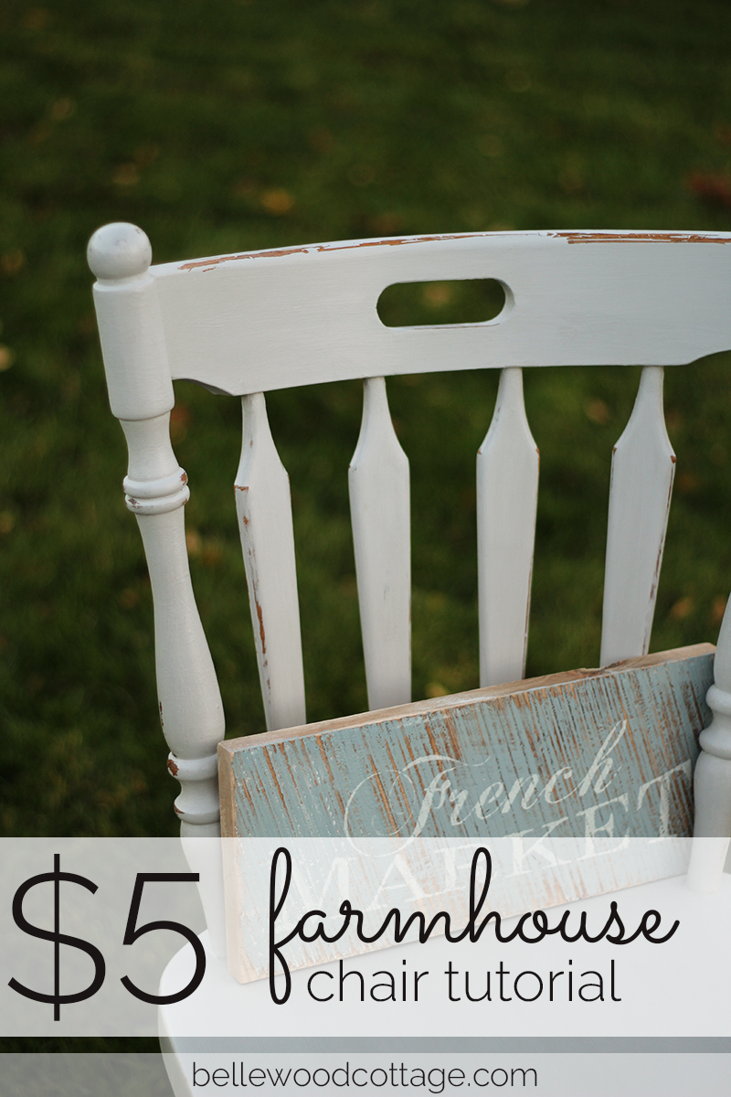 If you love the farmhouse look and want to add charm to your home without busting the budget, try this simple update. I recently updated this $5 thrift store chair with the help of some chalk paint and a bit of spare time.