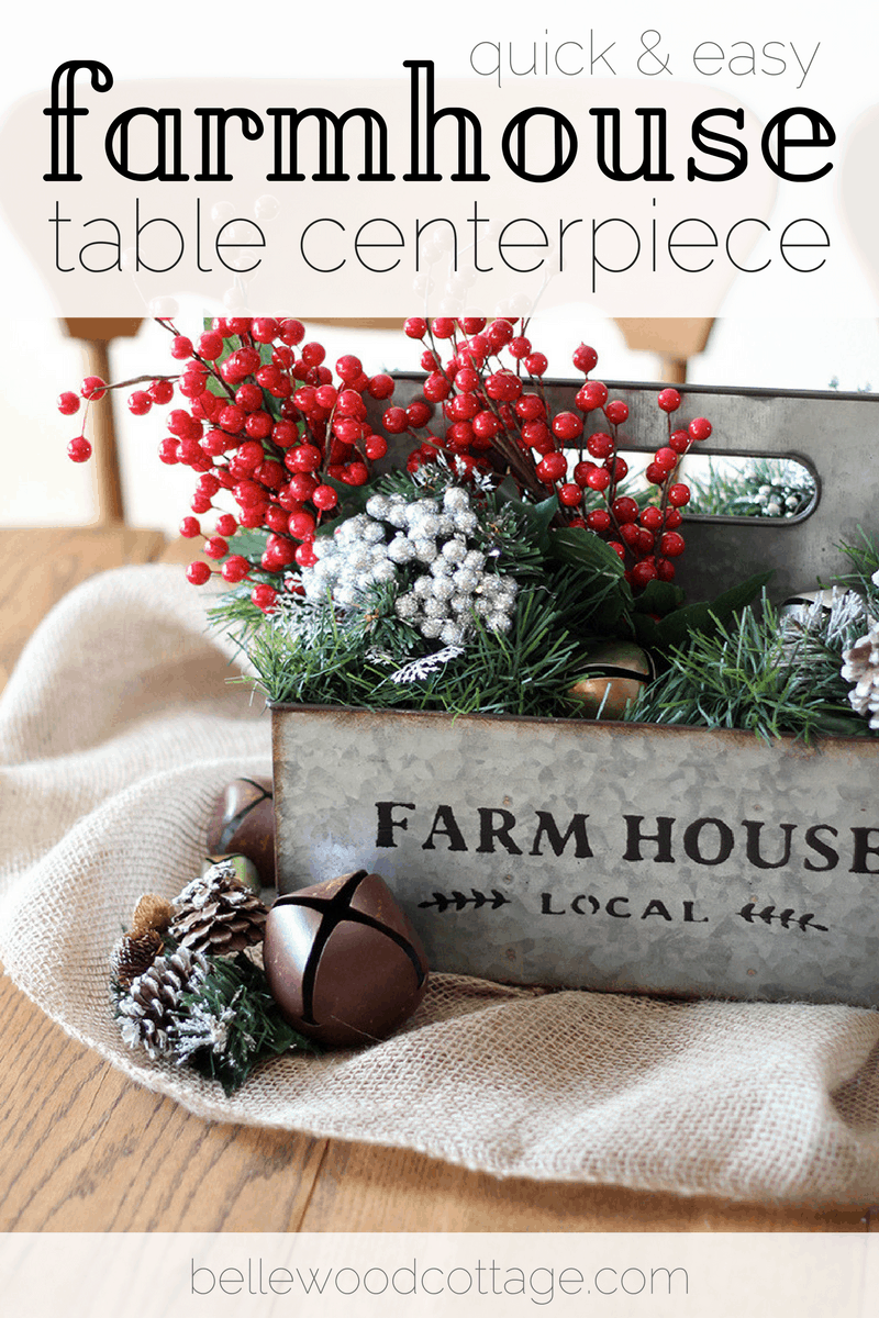 Quick and Easy Farmhouse Table Centerpiece