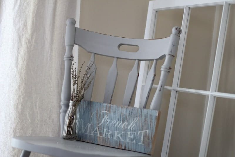 thrift store chair transformed with chalk paint
