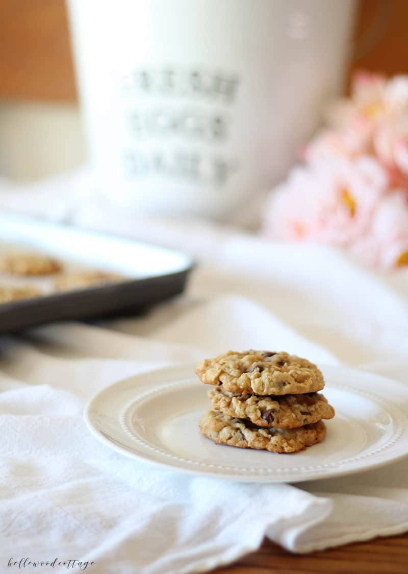 our favorite oatmeal chocolate chip cookies