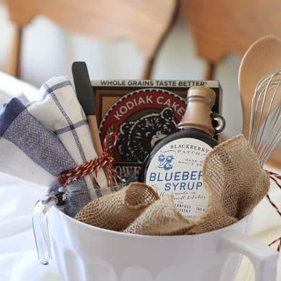 bridal shower gift idea – pancake breakfast gift basket