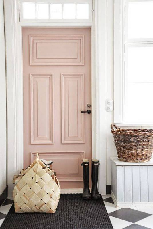 pink front door paint color