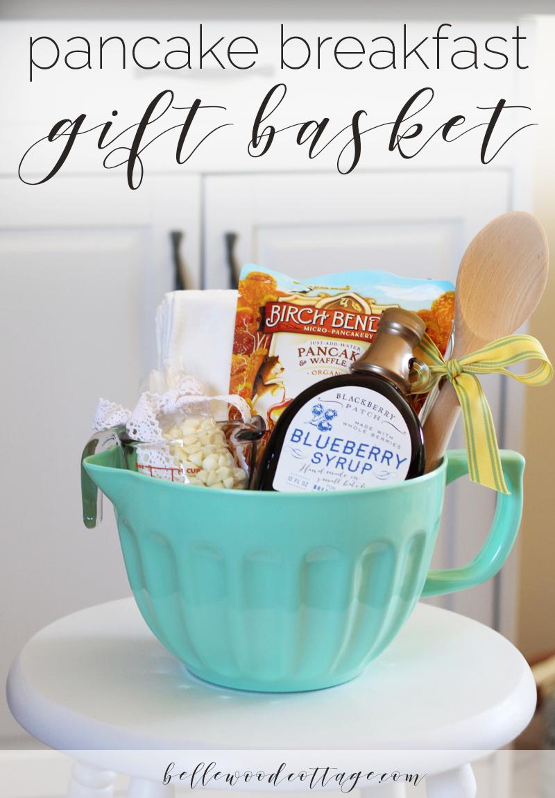 bridal shower gift idea - pancake breakfast gift basket ...