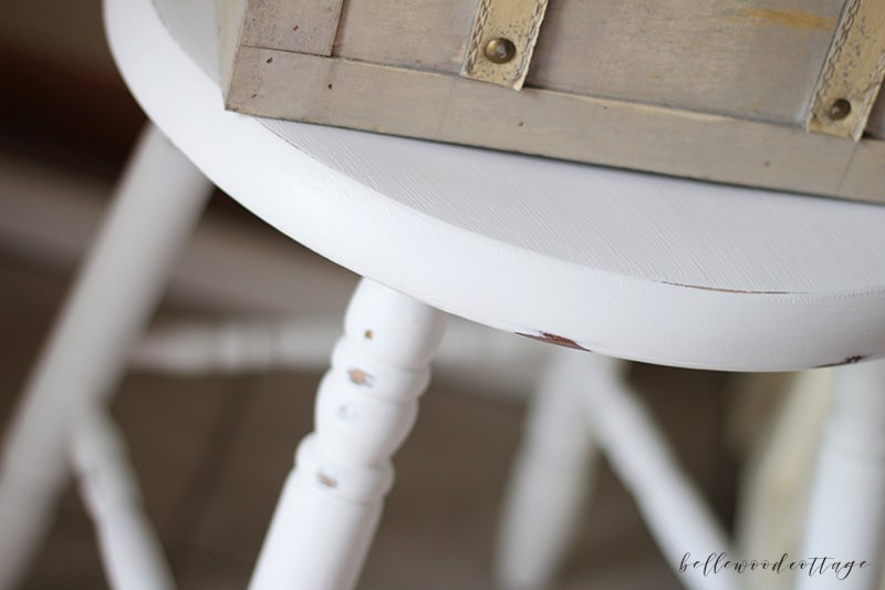 distressing adds character and charm to painted furniture
