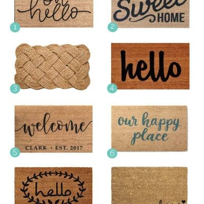 Farmhouse Welcome Mat Roundup