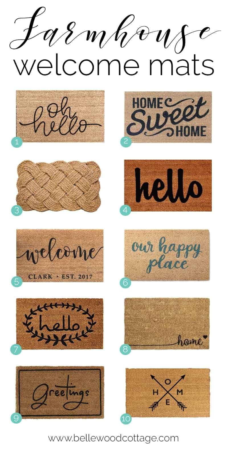 Farmhouse Style Welcome Mat Roundup