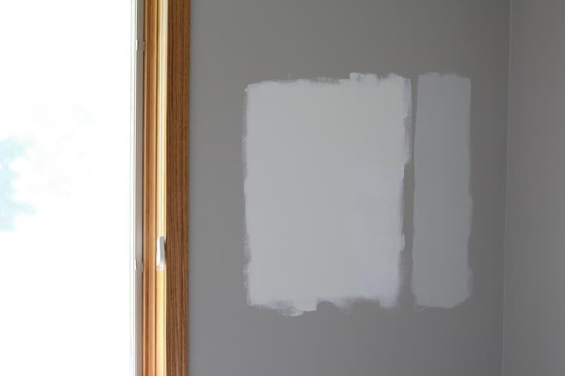 Paint samples - Benjamin Moore Vanilla Milkshake
