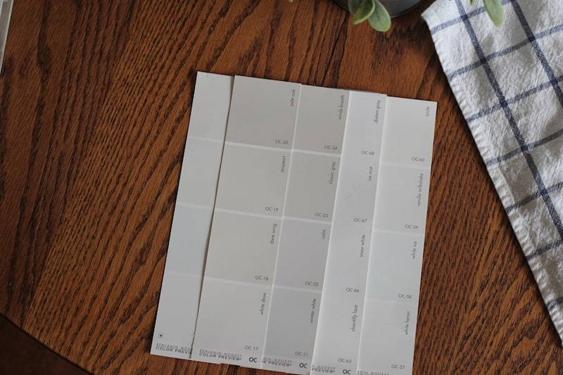 paint swatches - farmhouse bedroom makeover