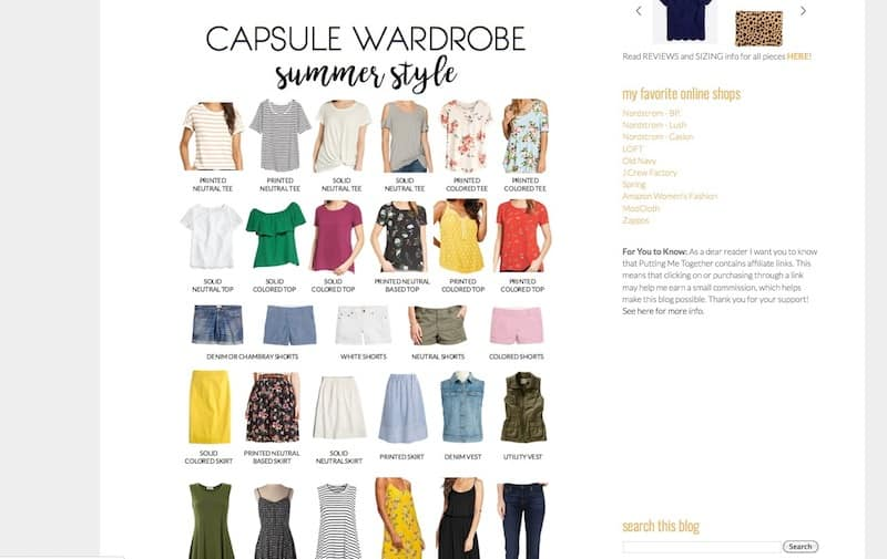 Putting Me Together - Summer Capsule Wardrobe