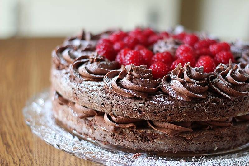 Gluten Free Chocolate Brownie Fudge Cake