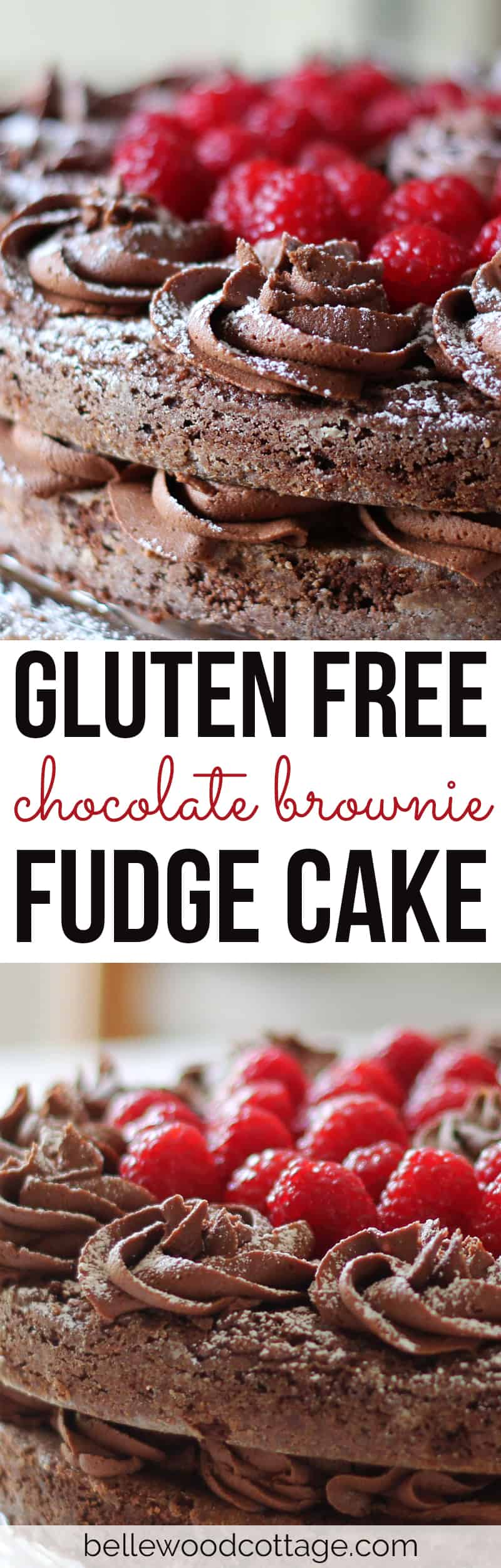 How to make a mouth-watering gluten free chocolate brownie fudge cake