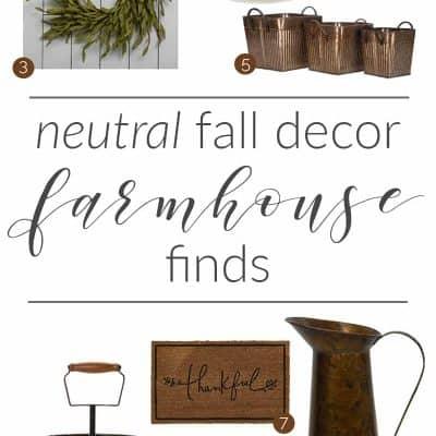 Neutral Fall Farmhouse Decor - Bellewood Cottage