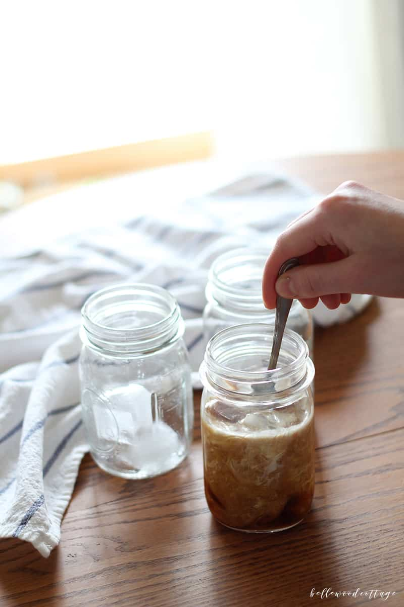 Cold brew iced coffee recipe from Bellewood Cottage