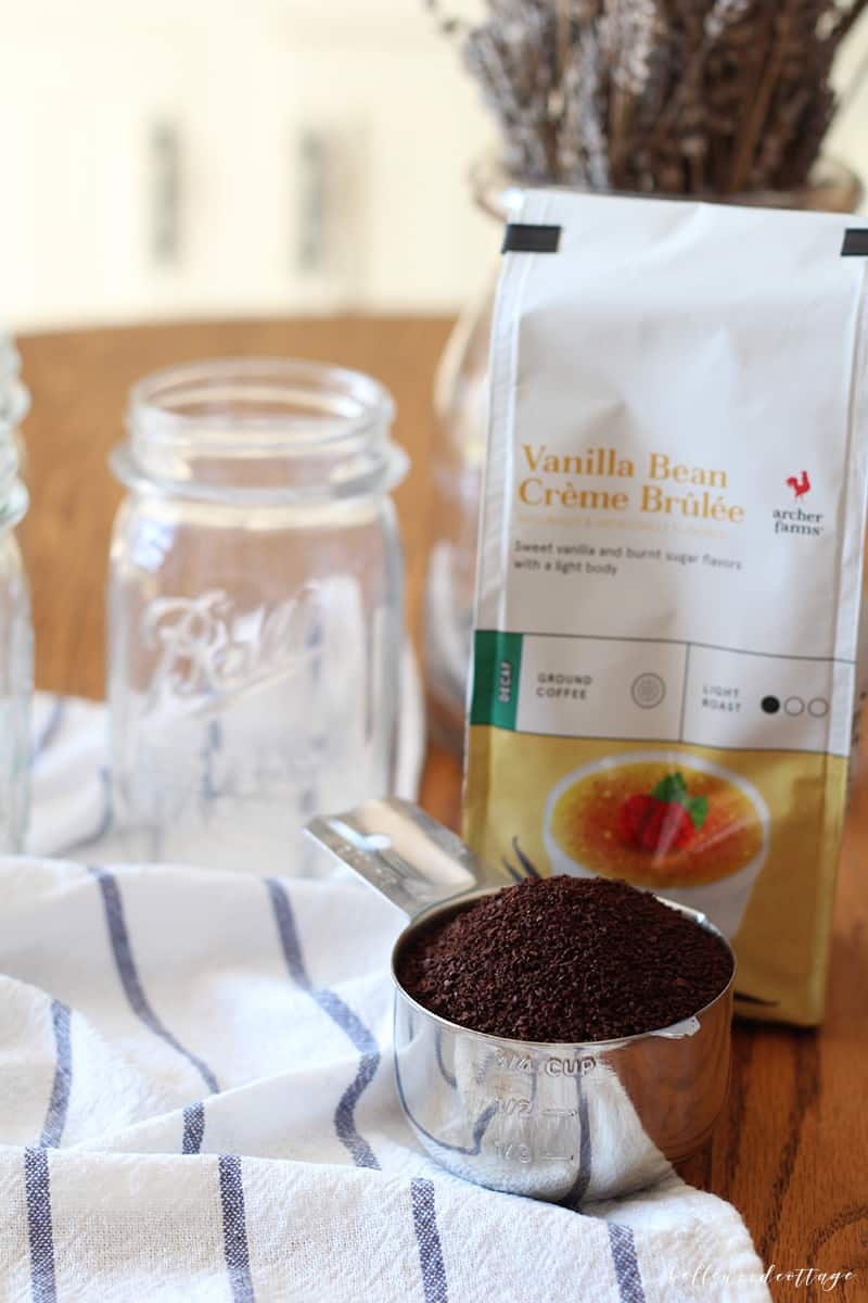 cold brew iced coffee - creme brulee