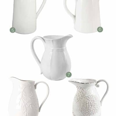 White farmhouse pitchers