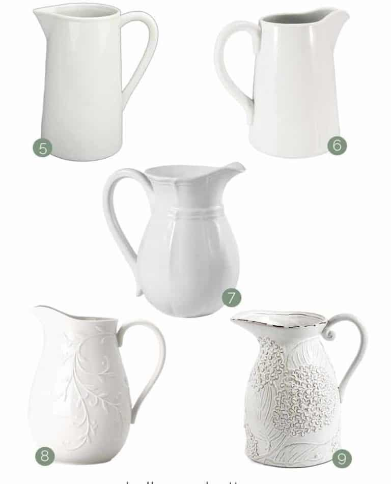 Budget-Friendly Farmhouse Pitchers