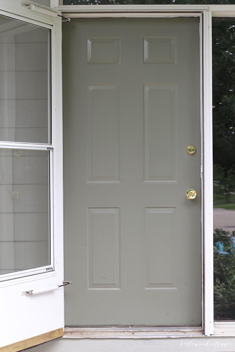 before painting - front door