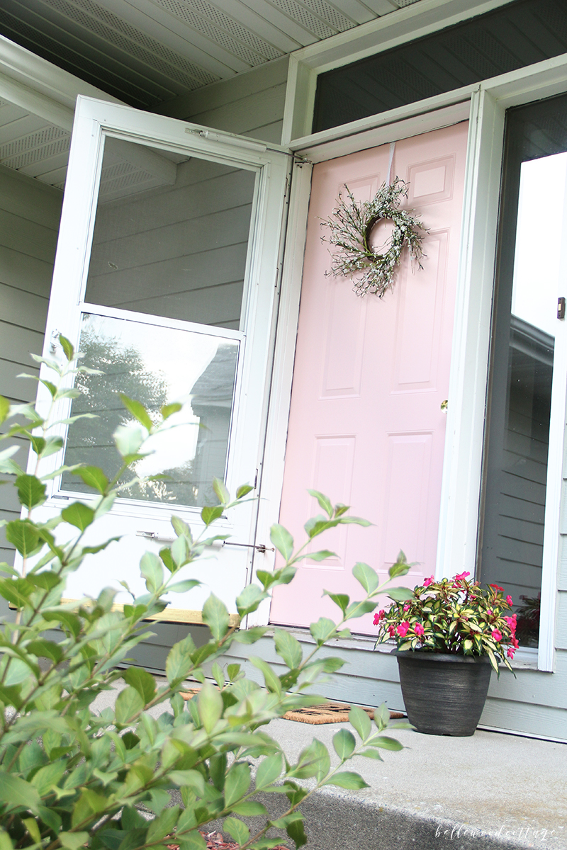 painting our front door pink