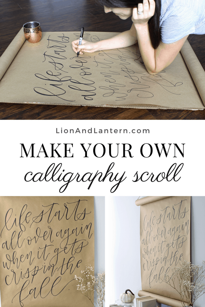 Calligraphy Scroll Tutorial - Friday Favorites from Bellewood Cottage