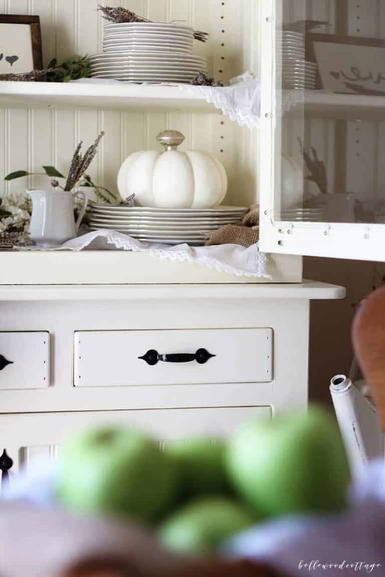 How to Style a Fall Farmhouse Hutch