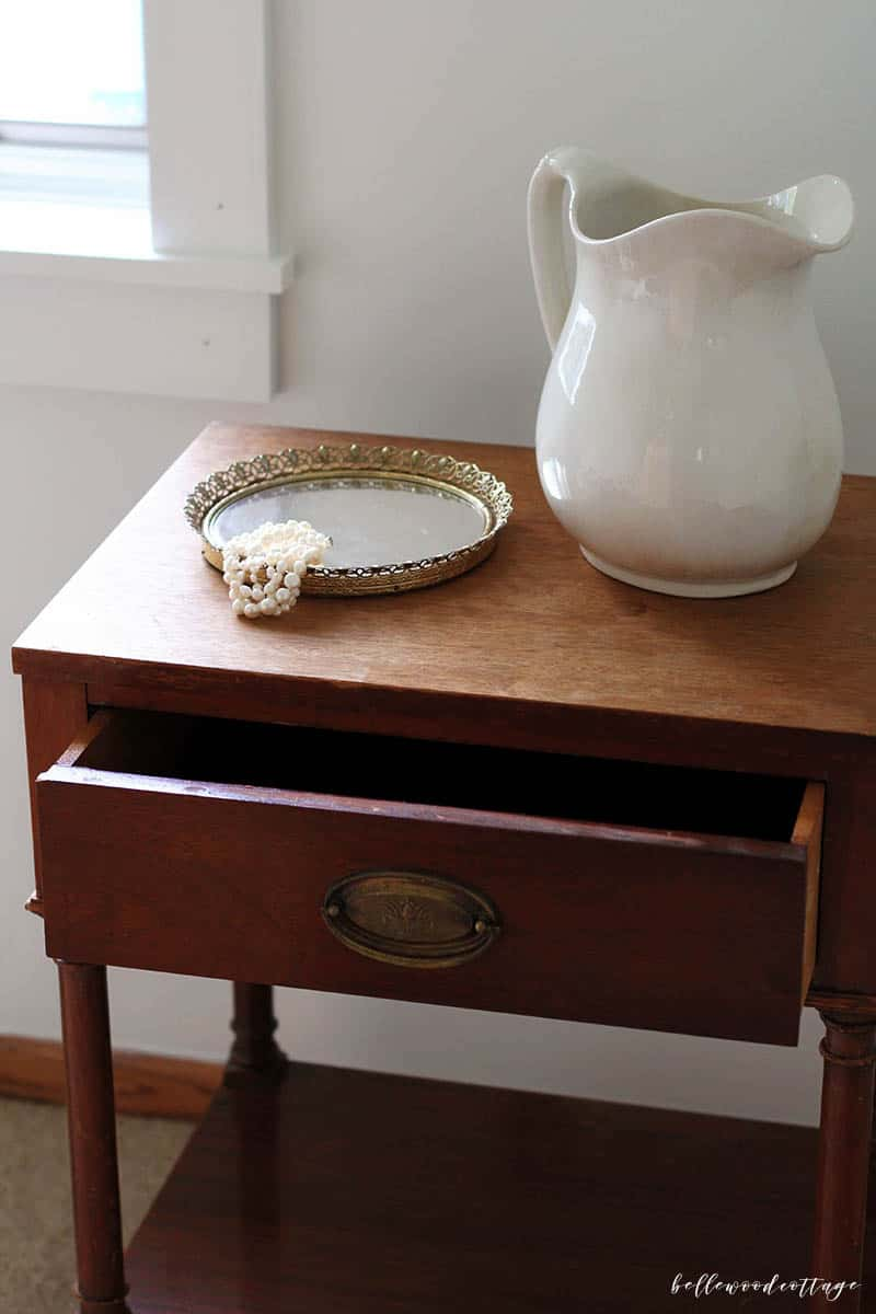 Updating your home on a budget means getting creative. Find out how I plan to use a $15 antique nightstand to bring charm to our master bedroom update.