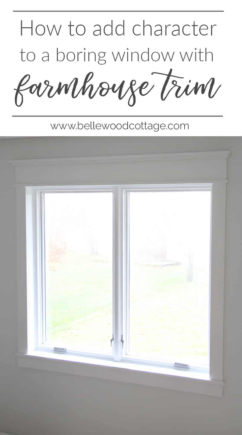 Wondering how to add character to a builder grade home? Learn how to update a boring window with gorgeous (and budget friendly!) farmhouse trim || from Bellewood Cottage ||