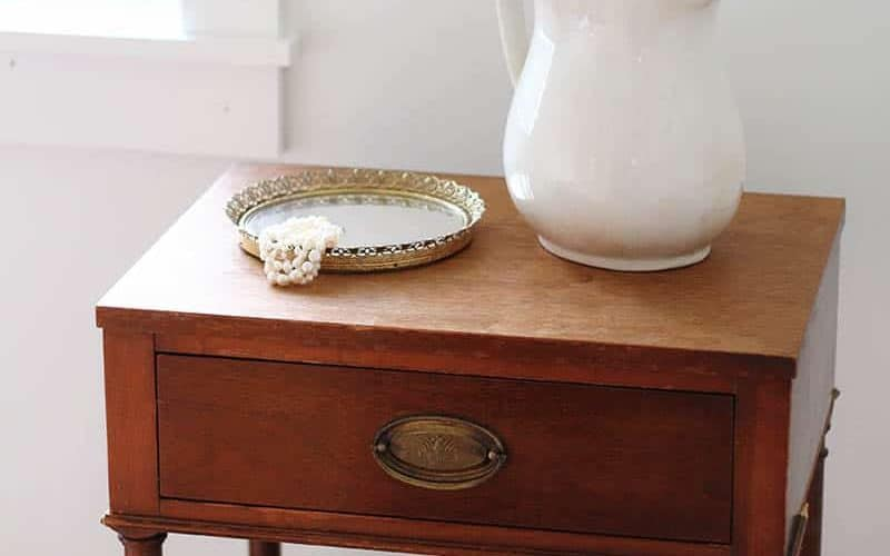 Updating your home on a budget means getting creative. Find out how I'll use a $15 antique nightstand to bring charm to our master bedroom update.