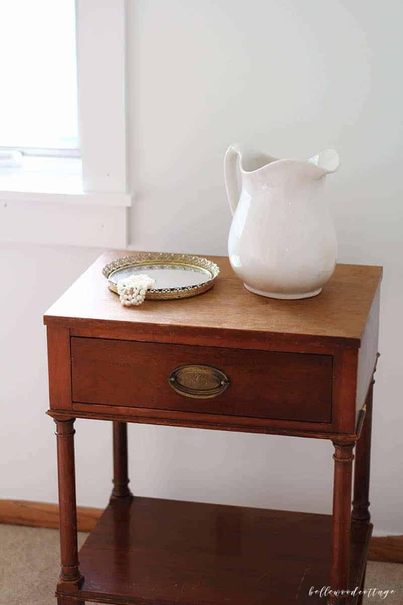 A Vintage Nightstand and Bedroom Update