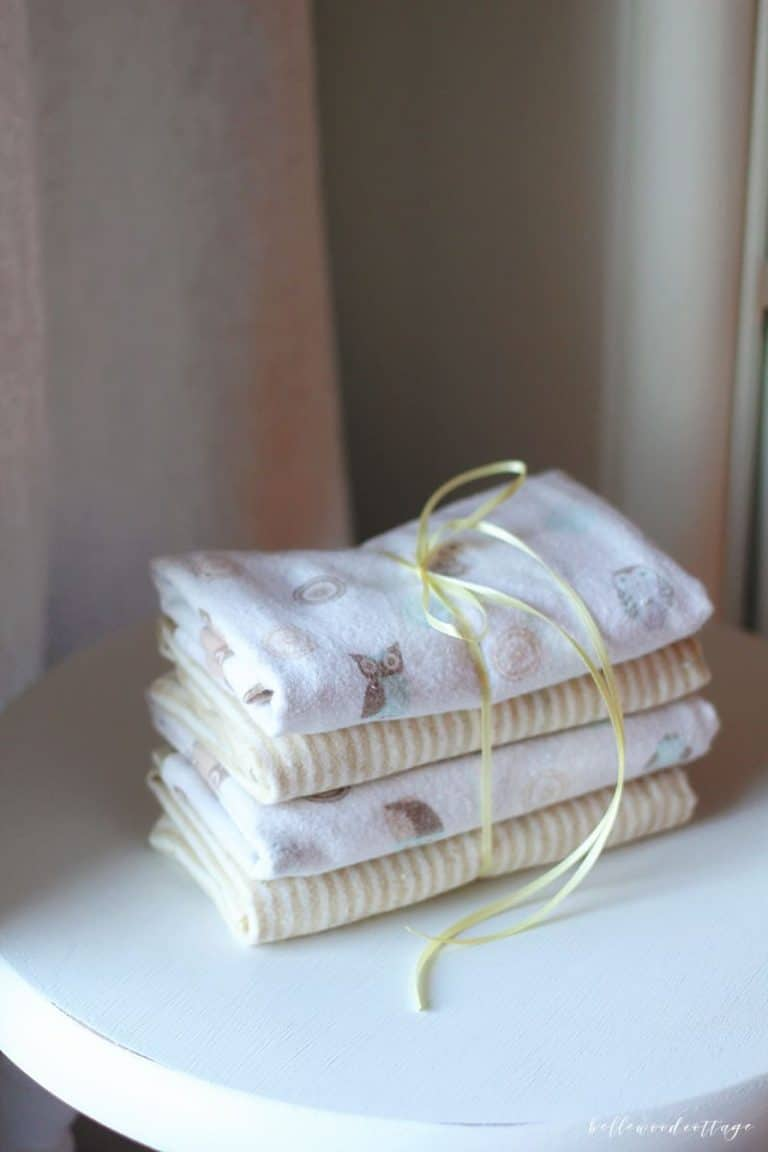 How to Sew Burp Cloths for Baby