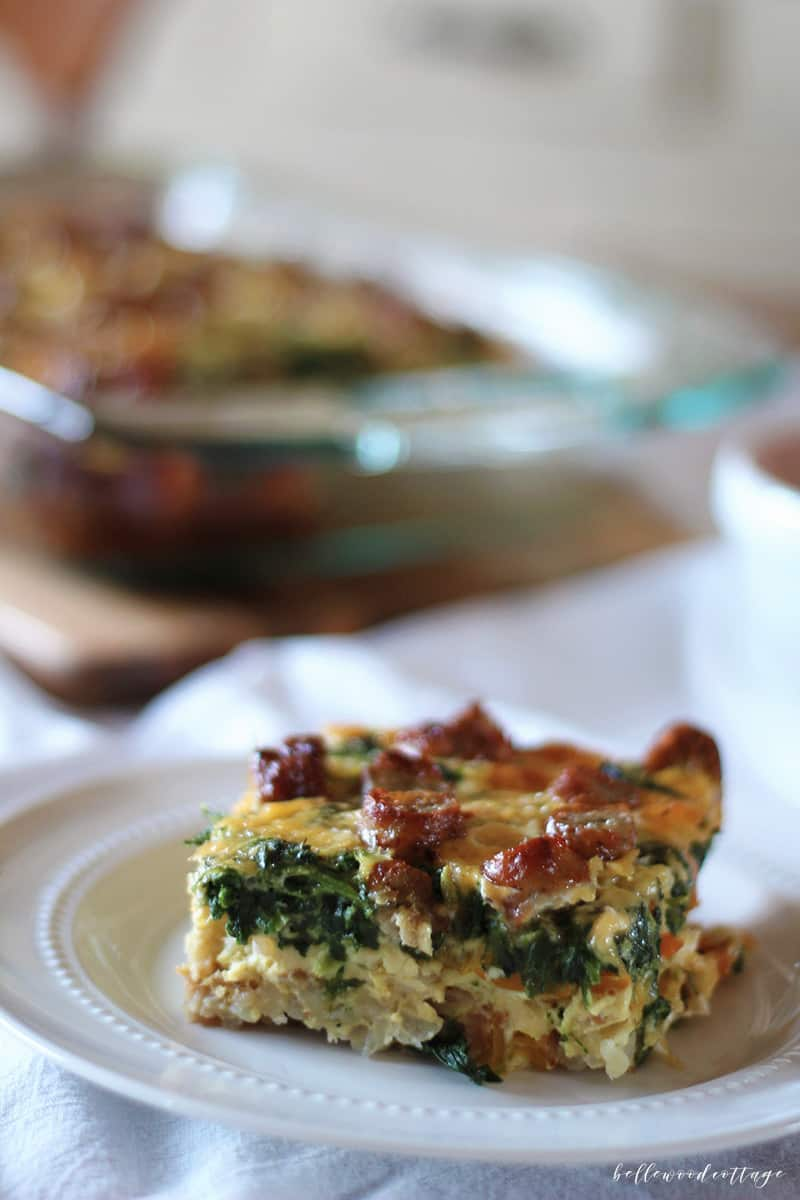 Need an easy weeknight meal? Next time you're in the dinner rut, try making my classic egg bake recipe, a simply delicious and ultra-filling comfort food. From Bellewood Cottage