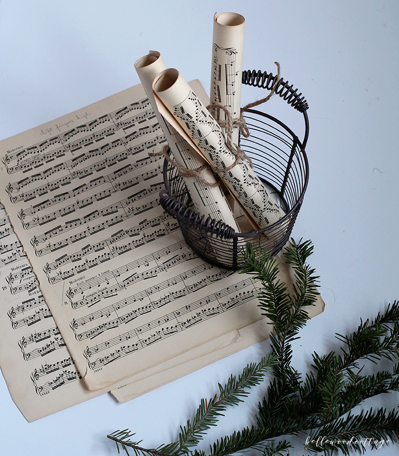 25 Best Ideas About Christmas Sheet Music On Pinterest: DIY Christmas Sheet Music Decor With Fresh Pine