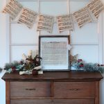 DIY Christmas Sheet Music Decor with Fresh Pine