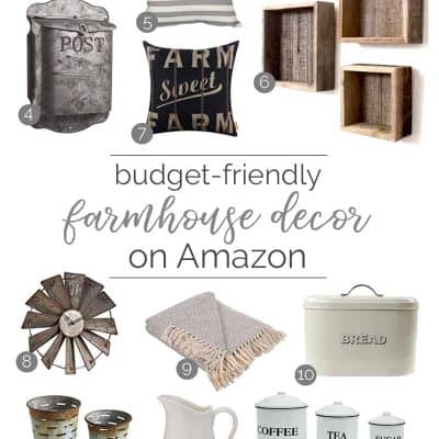 Budget-Friendly Farmhouse Decor on Amazon