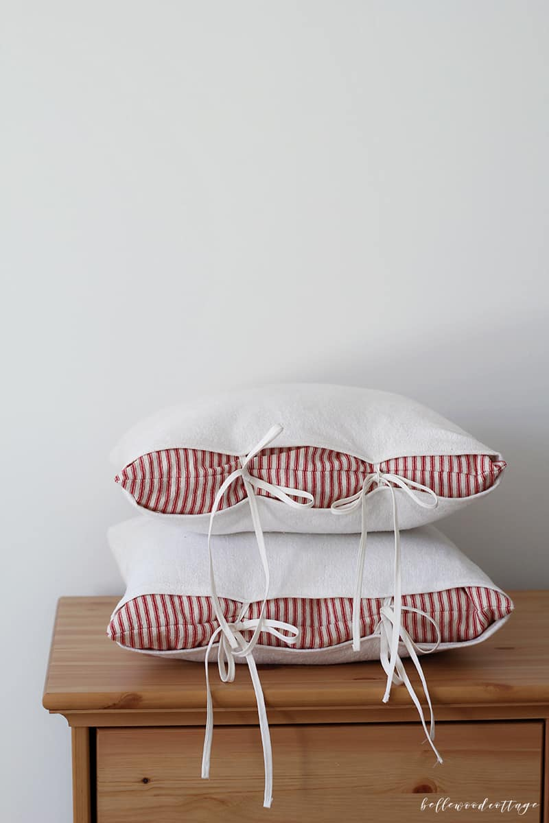 Don't get rid of your old throw pillows! Instead, learn how to update throw pillows and give them a fresh farmhouse look. Oh, and bonus? Sewing your own pillow covers is suuuper budget-friendly. Visit Bellewood Cottage for all the details!
