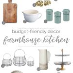 Not ready to commit to a full kitchen remodel? Join me as I share some of my favorite farmhouse kitchen decor that will transform your space quickly and easily. No power tools required! From BellewoodCottage.com