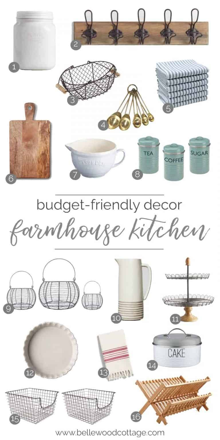 Budget-Friendly Farmhouse Kitchen Decor