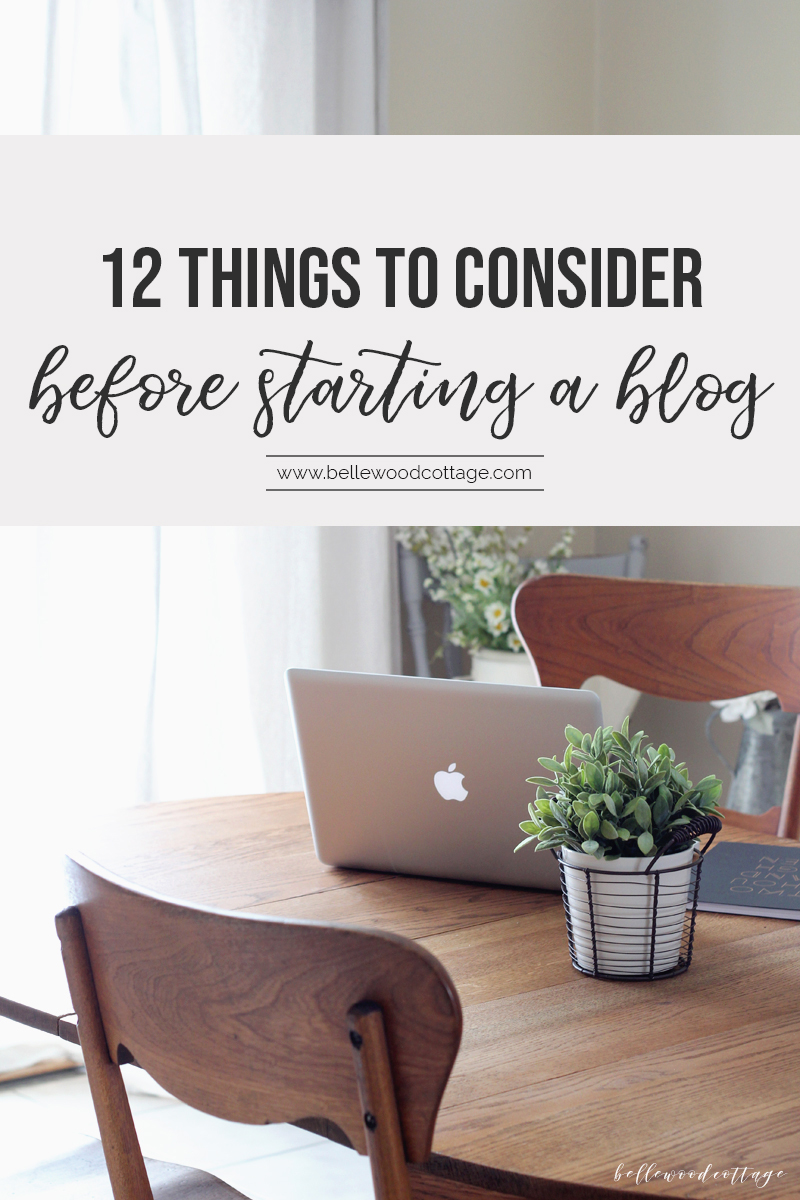 "If you have ever asked yourself, ""should I start a blog?"", then check out these 12 considerations to help you decide if blogging is right for you. Whether you want to share your favorite hobby with others or create a serious side-hustle, learn what you need to know before making the leap!"