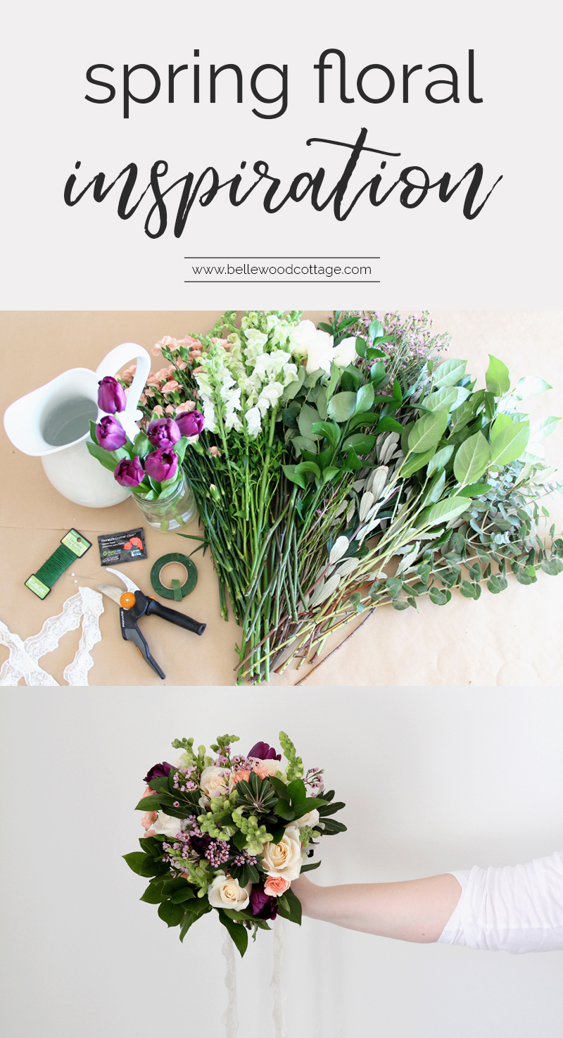 Fresh flowers are a beautiful accent to any home, especially during the spring season. Discover how to create spring floral inspiration in your home using simple supermarket blooms! A collaboration with Rose and Laurel at BellewoodCottage.com