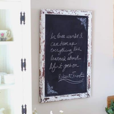 Sometimes it takes a few tries to get a diy project juuust right. Learn how I re-purposed a vintage mirror in this tutorial sharing how to turn a mirror into a chalkboard. A super simple weekend project from BellewoodCottage.com.