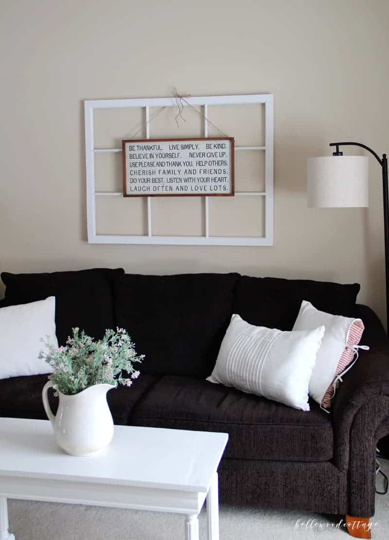 Ever found the perfect piece of art for your walls, only to discover that it is far too small? Check out my tutorial on how to layer wall art. With a couple of simple tricks your art can fill the wall and make a statement. Bonus? Utilize decor you already own to make it happen! All on BellewoodCottage.com.