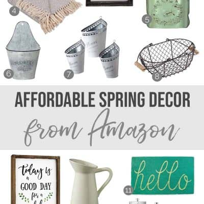 Come shop with me! I'm sharing a roundup of affordable spring home decor (all from Amazon, how easy it that?) and you will love these fun pieces! I selected plenty of seasonally appropriate spring decor as well as lots of pieces that will work throughout the year. Perfect for stretching that decor budget!