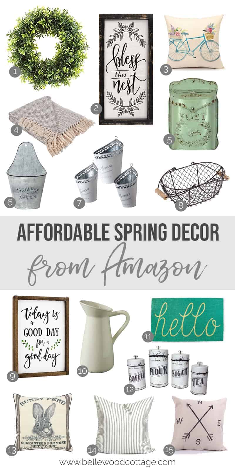 Affordable Spring Home Decor On Amazon Bellewood Cottage