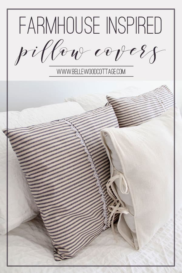 Farmhouse Inspired Ticking Pillow Covers Bellewood Cottage Fascinating Make Your Own Pillow Covers
