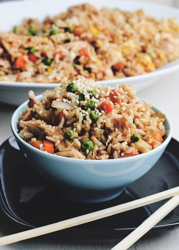 Fried Rice from Rachel Schultz | If you are looking for some practical weeknight dinner ideas, join me at Bellewood Cottage where I'm sharing five of my recent favorites. Meals that are hearty, delicious, and just right for weeknight cooking!