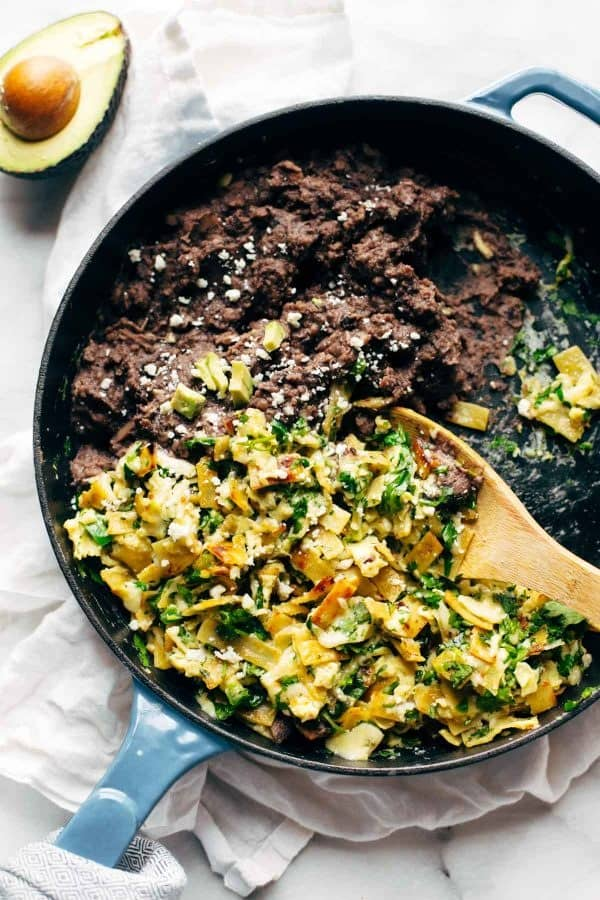 Migas from Lindsay at Pinch of Yum   If you are looking for some practical weeknight dinner ideas, join me at Bellewood Cottage where I'm sharing five of my recent favorites. Meals that are hearty, delicious, and just right for weeknight cooking!