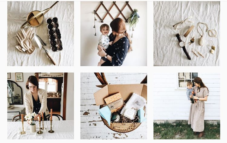 screenshot of Rosemary and Thyme - Instagram feed