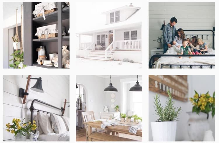 screenshot of Farmhouse on Boone - Instagram feed