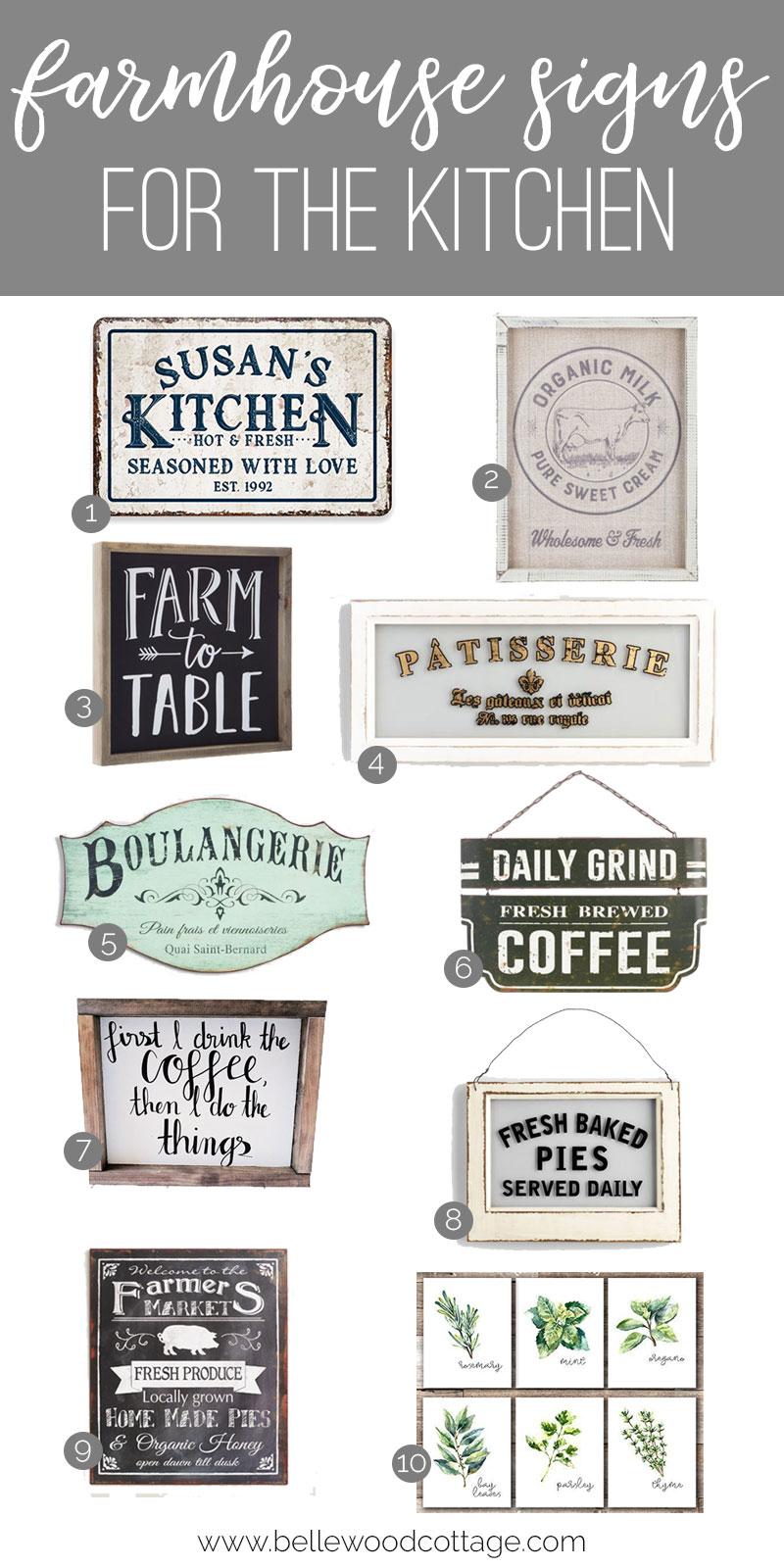 Farmhouse Style Kitchen Wall Decor - Bellewood Cottage