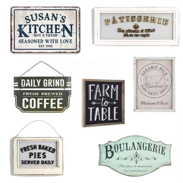 Farmhouse Style Kitchen Wall Decor